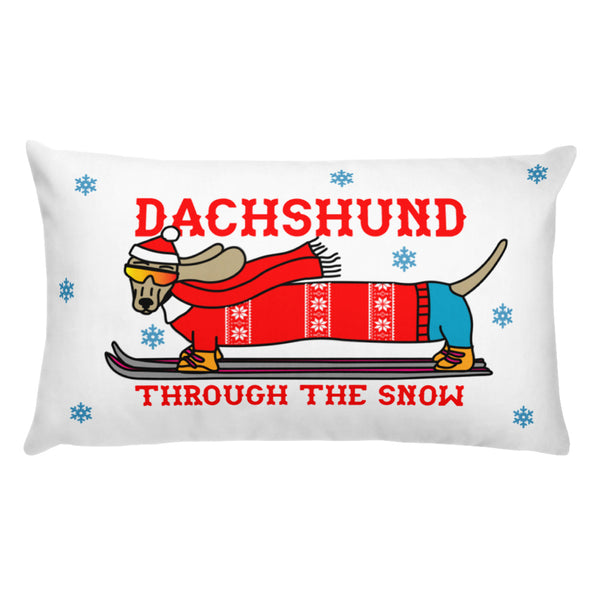 Dachshund Through the Snow Pillow | BeanGoods