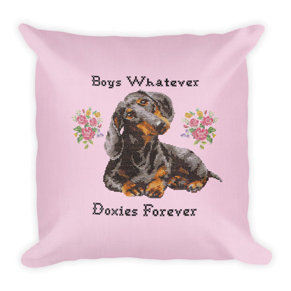 Dachshund Cross Stitch Throw Pillow | BeanGoods