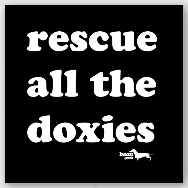 rescue all the doxies sticker