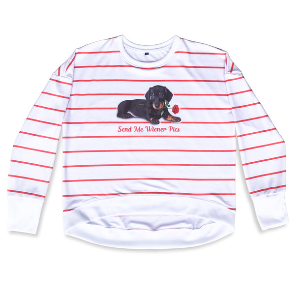 Wiener Dogs Striped Sweatshirt | BeanGoods
