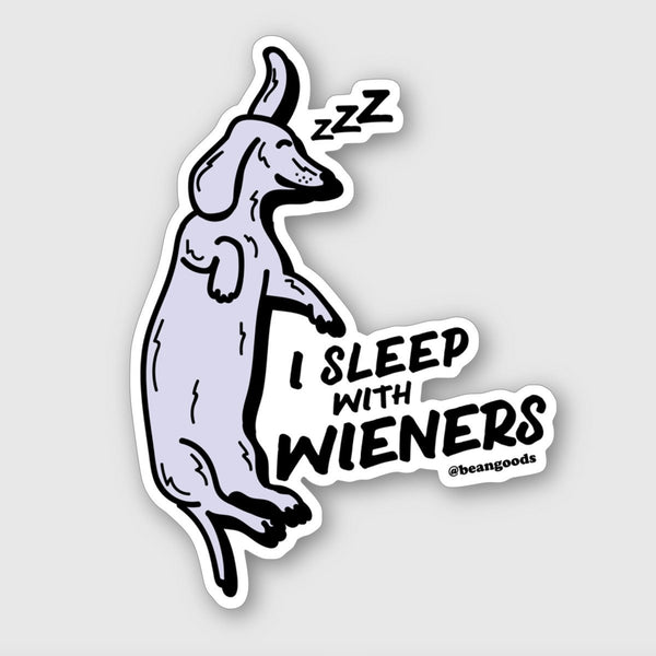 sleeping wieners sticker - BeanGoods