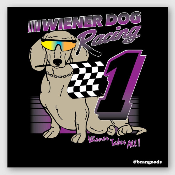 wiener dog racing sticker - BeanGoods