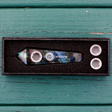 Labradorite Crystal Smoking Pipe- Find Your Magic, Crystal Pipe - AirandStone