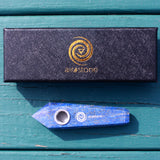 Lapis Lazuli Crystal Smoking Pipe- Speak Your Truth and Find Your Dreams, Crystal Pipe - AirandStone