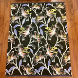 African Black and Gold Floral Print