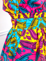 Custom Made African Print Skirt and Top