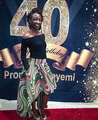 Custom Made African Print Skirt