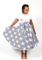 African Print Custom Made Wrap Circle Skirt
