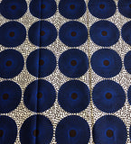 Blue Waterwells African Fabric