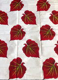 Red Leaf African Fabric