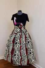 Custom Made African Print Skirt with sash belt