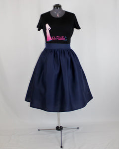 Custom Made Denim Midi Skirt