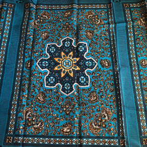 Dashiki Prints - Turquoise Flower