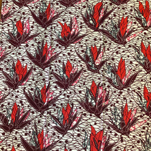 african print pink and red floral fabric