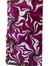 African Print - Purple and White Floral