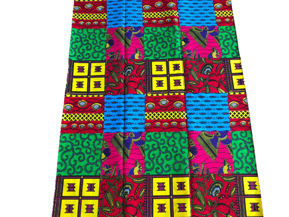 African Print Patchwork Fabric