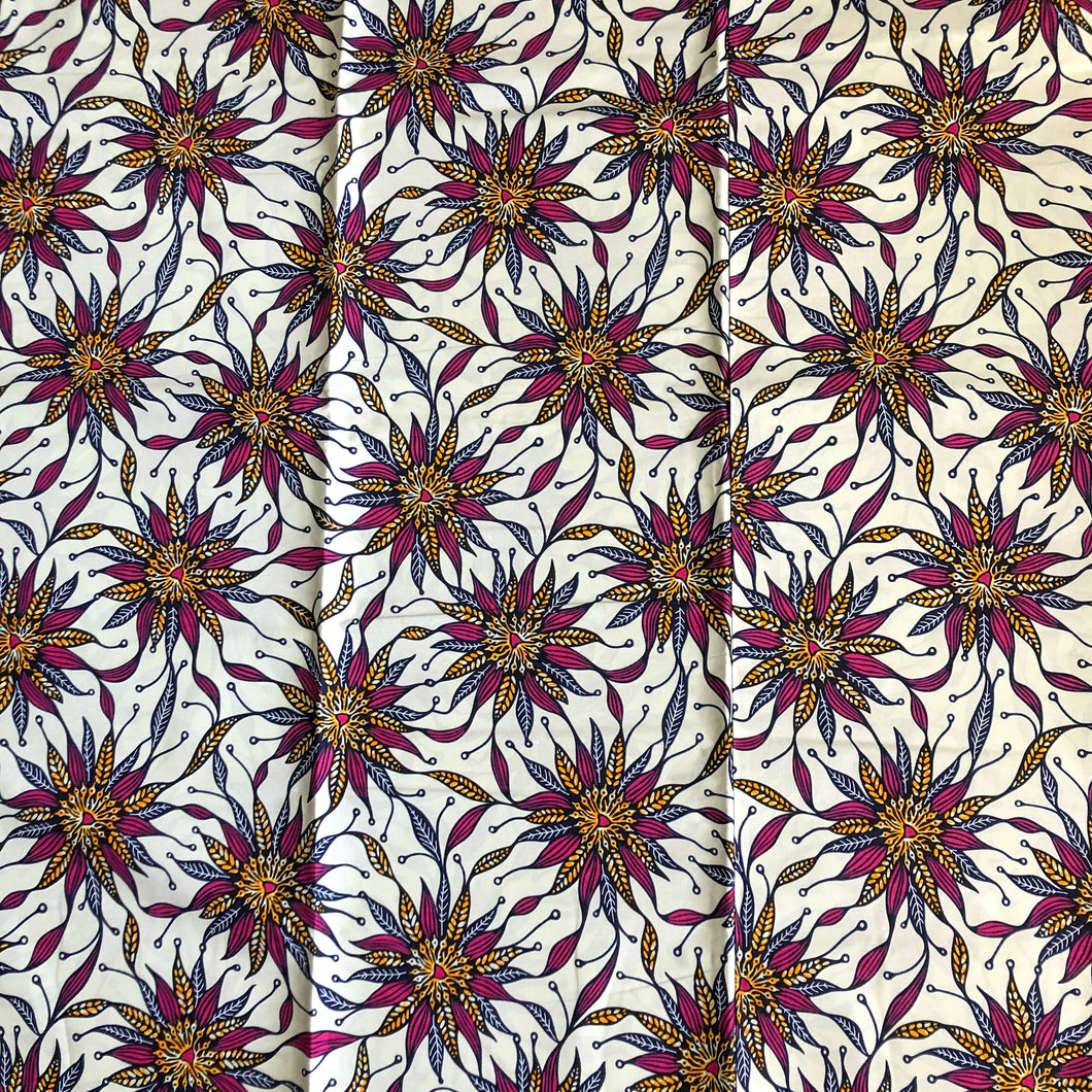 African Print Fabric Floral Print