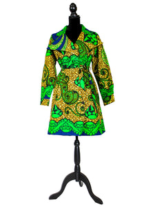 'Emerald Tones' Jacket Dress
