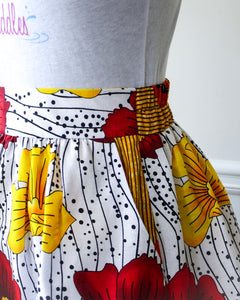 african print skirts with pockets