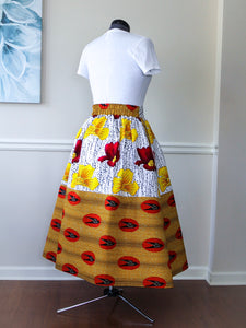 Custom Made African Print short Skirt
