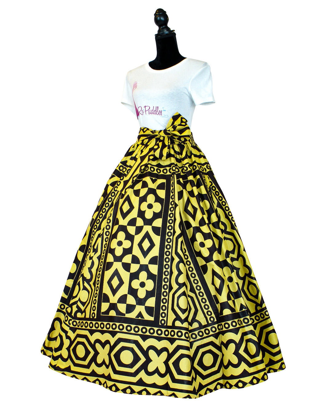 Fashions by RoPuddles African print brown maxi skirt