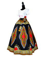 Fashions by Ropuddles African Print Black Dashiki Skirt