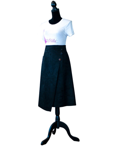 Fashions By Ropuddles Black Suede Skirt