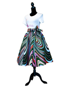 Fashions by RoPuddles African Print Black multicolor skirt