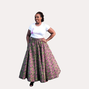 Purple and Green African Skirts