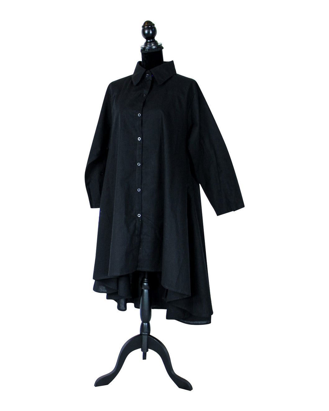 black hilo tunic dress