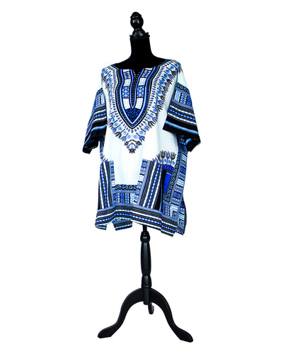 Fashions by RoPuddles Light Blue Dashiki Shirt