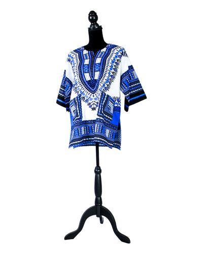 Fashions by RoPuddles Blue and White Dashiki