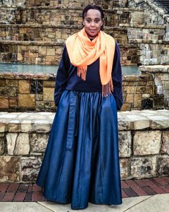 fashions by ropuddles long denim skirt