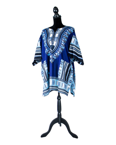 Fashions by RoPuddles Navy Blue Dashiki Shirt