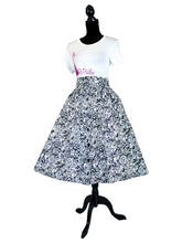 Fashions by RoPuddles African Print Black and White Skirt