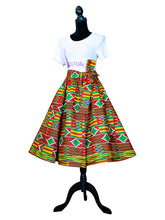 Fashions by RoPuddles African Print Kente Midi Skirt