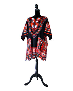 Fashions by RoPuddles Red and Black Dashiki Shirt