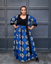 royal blue african print duster