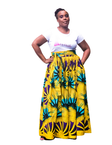 Fashions by RoPuddles Yellow African Print Skirt