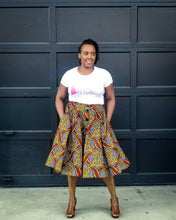 African Print Red and Yellow Skirt