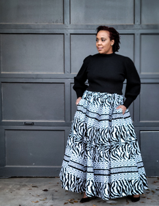 black african animal print skirt