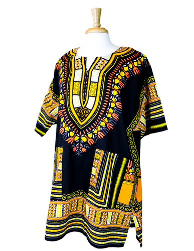 black yellow gold dashiki shirt