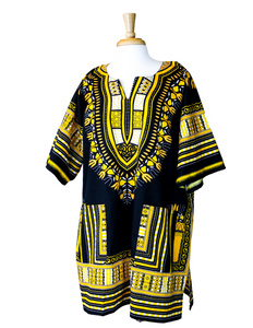 black yellow dashiki shirt