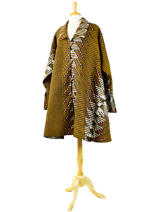 brown african print dress