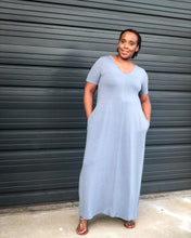 Gray Knit Maxi Dress