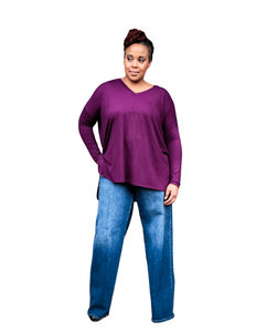 purple hilo tunic top