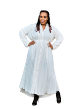 'Simply Pleated' Maxi Shirtdress