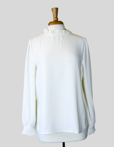 ivory long sleeve blouse