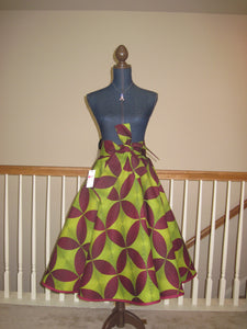 Custom Made African Print Circle Skirt