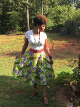 African print custom made circle skirt